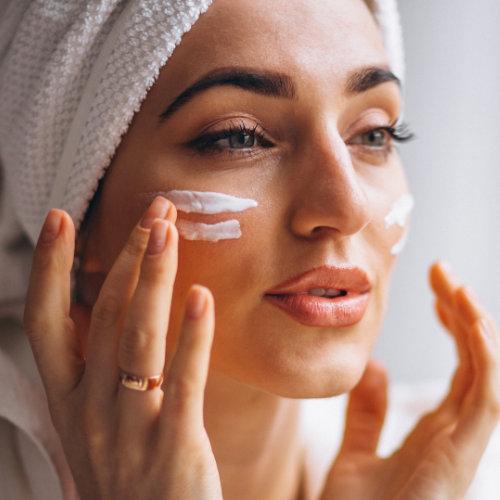 Woman - skin care